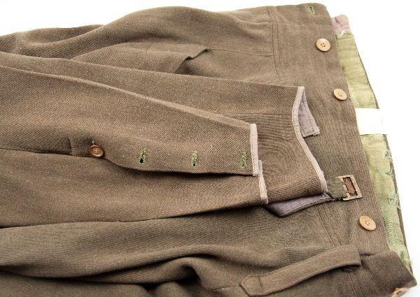 390: WWII JAPANESE ARMY MEDIC 1ST LT UNIFORM W/ VISOR - 5