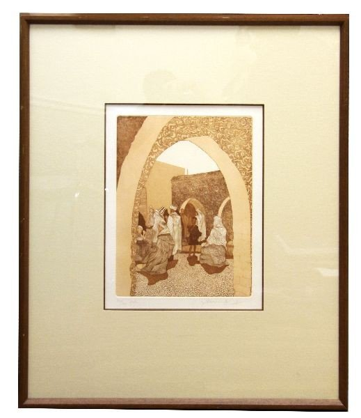 "2024: GUILLAUME AZOULAY ""SOUK"" SIGNED ETCHING"