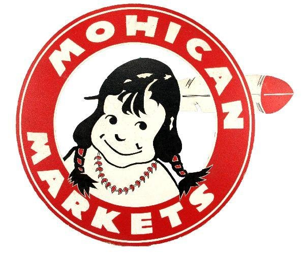 VINTAGE ADVERTISING SIGN MOHICAN MARKETS