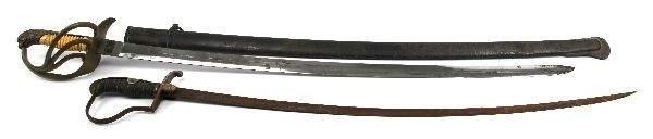 2 SWORDS 1 REENACTOR 1 AUTHENTIC