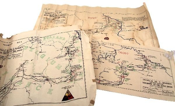 U.S. FIFTH DIVISION WWII WARTIME MAPS