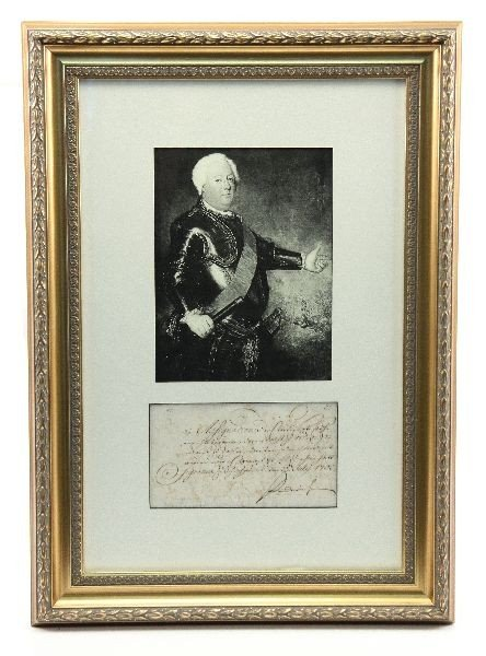 ORIGINAL WILHELM THE FIRST OF PRUSSIA WRITING