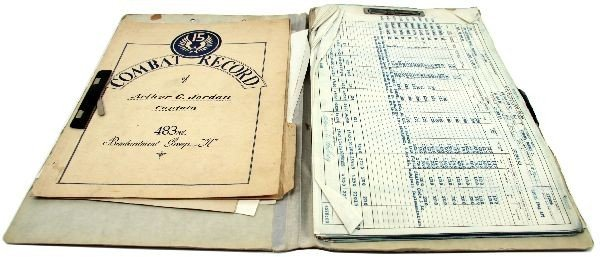 WWII PILOT LOG & SERVICE RECORD 483RD BOMB GROUP