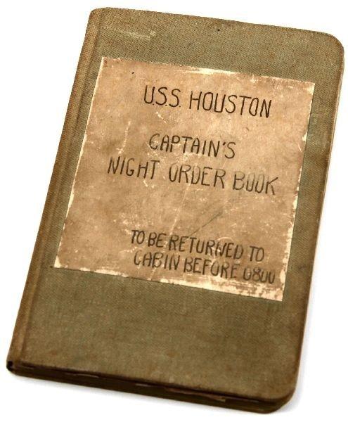 WWII USS HOUSTON ORIGINAL NIGHT ORDERS LOG