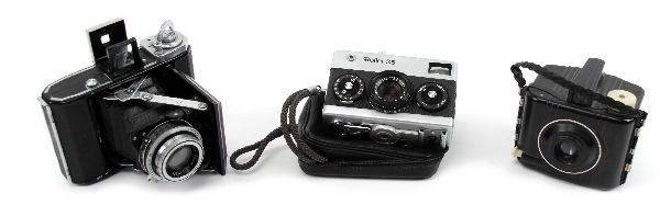 CAMERA LOT ZEISS IKON BABY BROWNIE ROLLEI 35