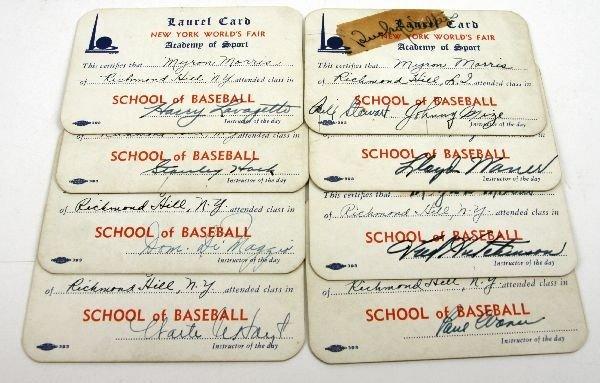 1939 NEW YORK ACADEMY OF SPORT LAUREL CARD LOT