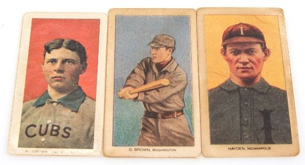 1909 TOLSTOI OLD MILL CAPORAL BASEBALL CARD LOT