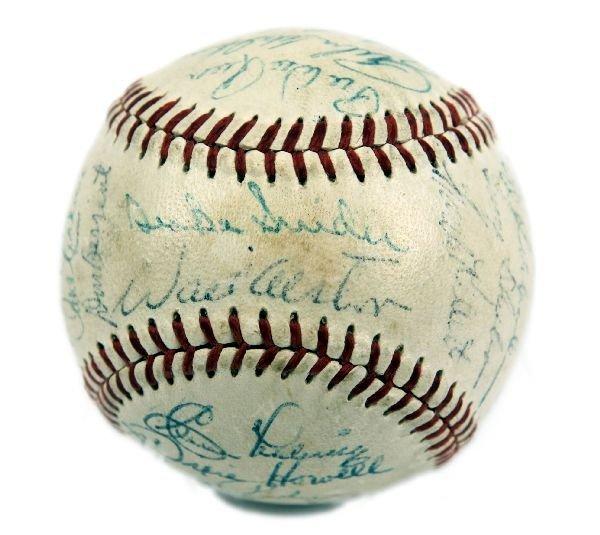 1955 BROOKLYN DODGERS TEAM SIGNED BASEBALL