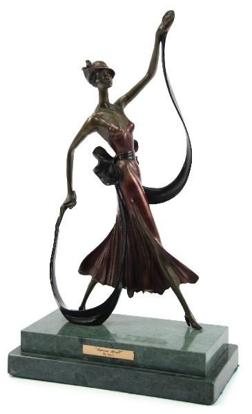 THE BARONESS BY LOUIS ICART REPRODUCTION BRONZE
