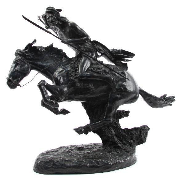 CHEYENNE ON HORSEBACK BRONZE BY REMINGTON