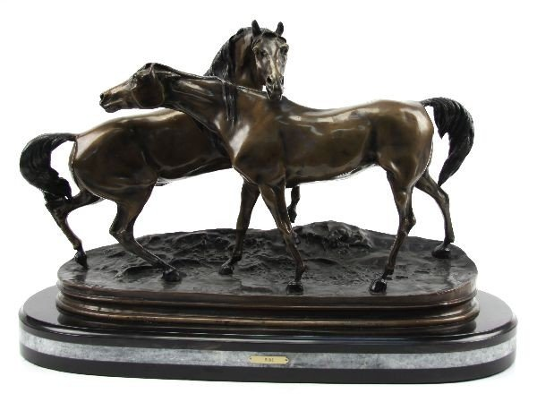 ACCOLADE BY MENE-BRONZE FIGURAL HORSE GROUP