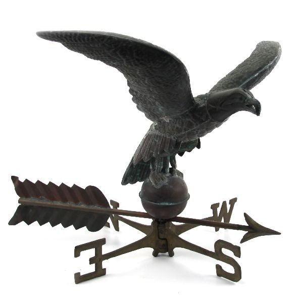 AMERICAN COPPER EAGLE WEATHERVANE W/ DIRECTIONALS