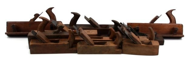 5012: LOT OF 11 ANTIQUE HAND BOX PLANES