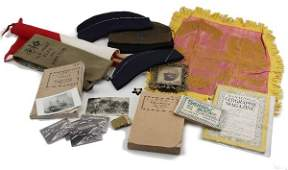 5204 WWI WWII MILITARY ANTIQUE LOT PHOTOS AND MORE