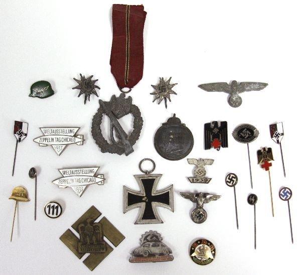 5225: COLLECTION OF ORIGINAL & SPURRIOUS NAZI BADGES