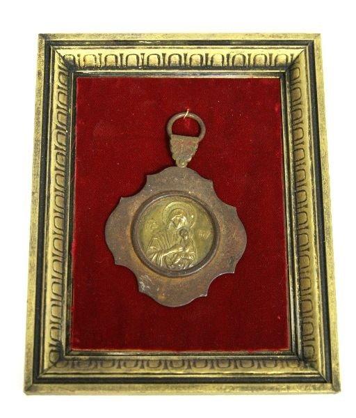 GREEK ORTHODOX VIRGIN OF KAZAN METAL PENDANT