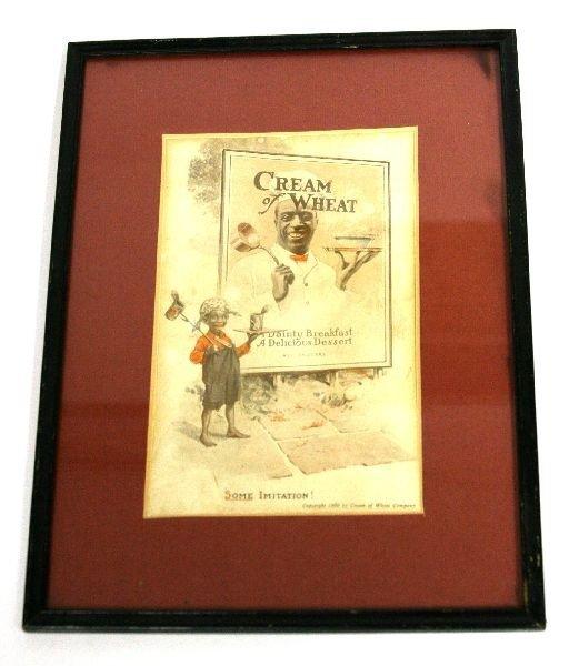 1920 CREAM OF WHEAT CHEF RASTUS AD SOME IMITATION