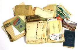 WW2 GI'S SCRAPBOOK DIARY & EPHEMERA COLLECTION