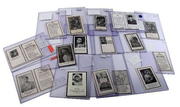 WWII GERMAN DEATH CARD LOT OF 15 TRANSLATED