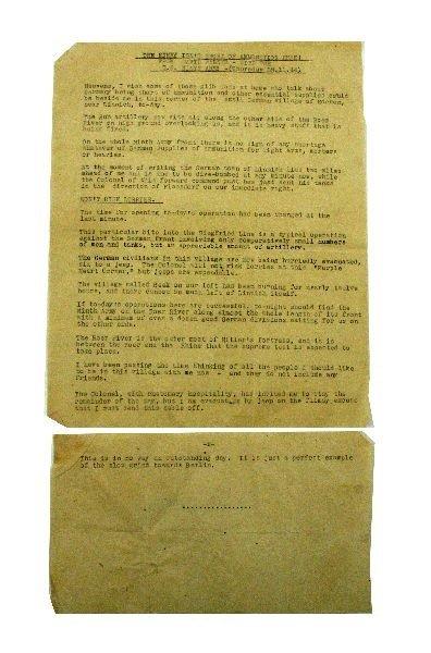 DAVID WALKER WWII DISPATCH NINTH ARMY GERMANY