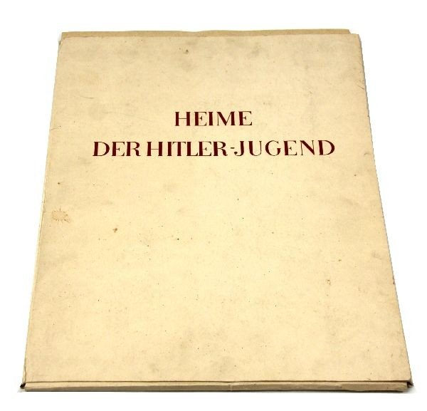 HITLER YOUTH ART BOOK W/ SCHIRACH SIGNED LETTER