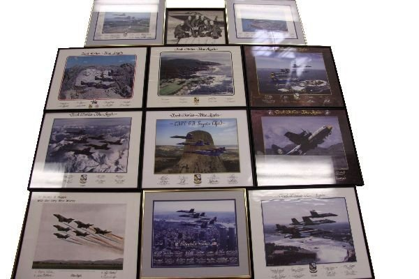 BLUE ANGELS 13 YEARS OF AUTOGRAPHED PHOTOS