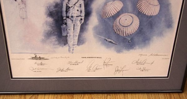 NAVAL AVIATION IN SPACE ASTRONAUT SIGNED PRINT - 3