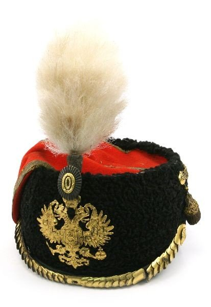 TSAR NICHOLAS II GUARD HUSSAR WOOL MUSEUM HAT