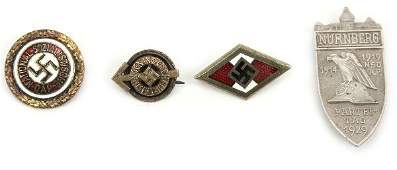 WWII GERMAN POLITICAL PINS AND BADGE LOT