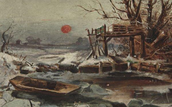 AMERICAN CIVIL WAR ERA OIL ON CANVAS PAINTING - 2