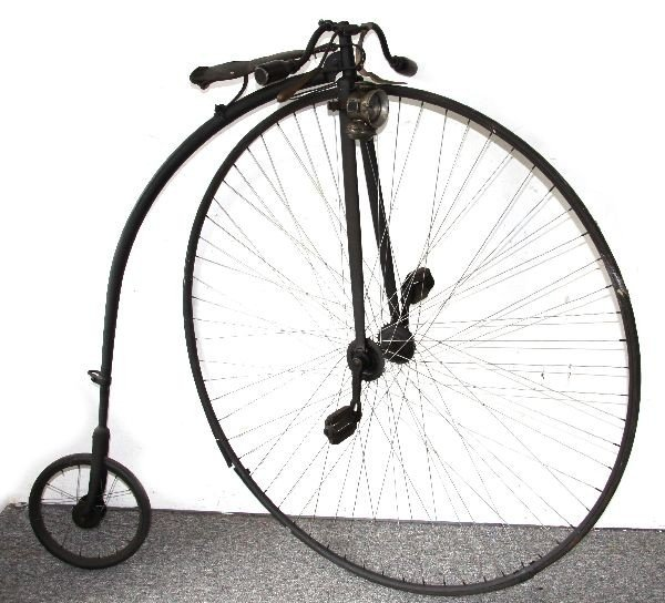 ANTIQUE 19TH CENTURY HIGH WHEEL BICYCLE