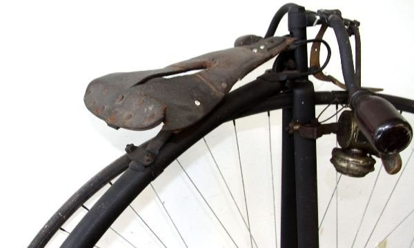 ANTIQUE 19TH CENTURY HIGH WHEEL BICYCLE - 4