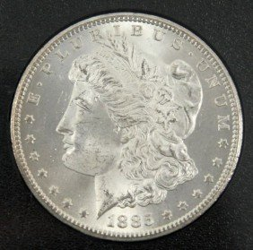 1885 GSA MORGAN SILVER DOLLAR 1885CC NGC MS-65