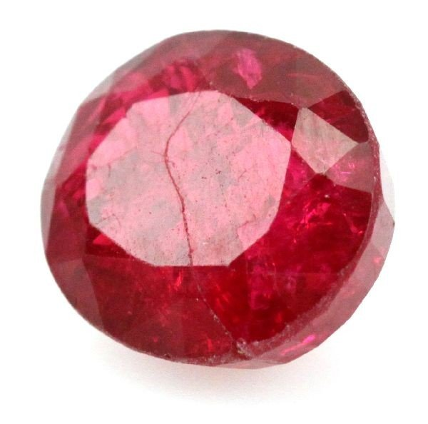 12.04 CT OVAL CUT TRANSPARENT RED RUBY