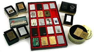 LARGE COLLECTION OF VINTAGE ZIPPO LIGHTERS & MORE