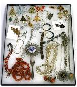 VINTAGE STERLING & COSTUME ESTATE JEWELRY LOT