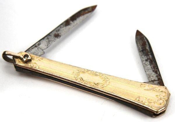 GOLD PLATED NESOR LIGHTER & HAYWARD POCKET KNIFE - 2