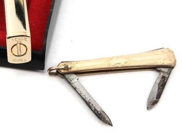GOLD PLATED NESOR LIGHTER & HAYWARD POCKET KNIFE - 4