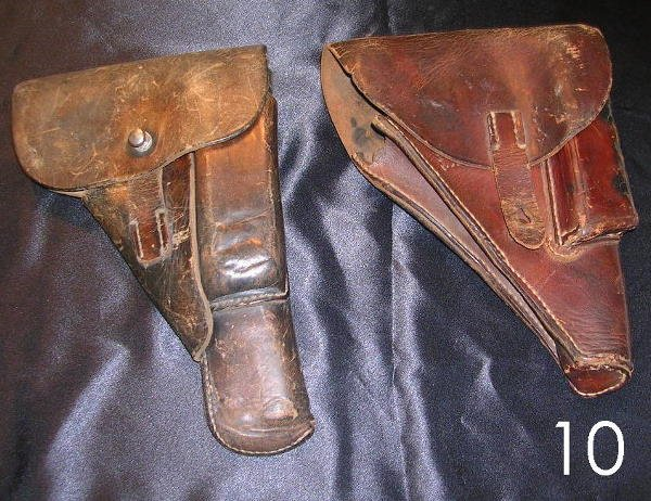 6010: WWII GERMAN HOLSTER LOT OF 2  WEHRMACHT