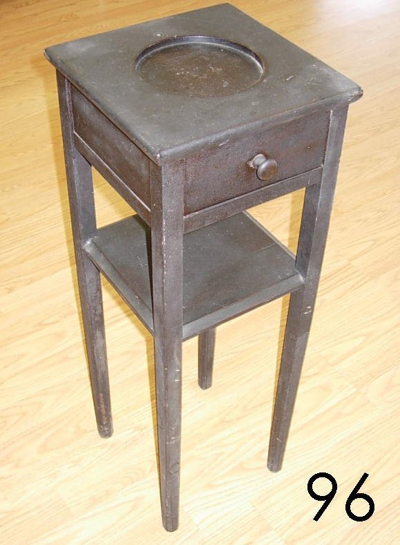 6096: ANTIQUE SMOKER'S STAND SIDE TABLE W DRAWER