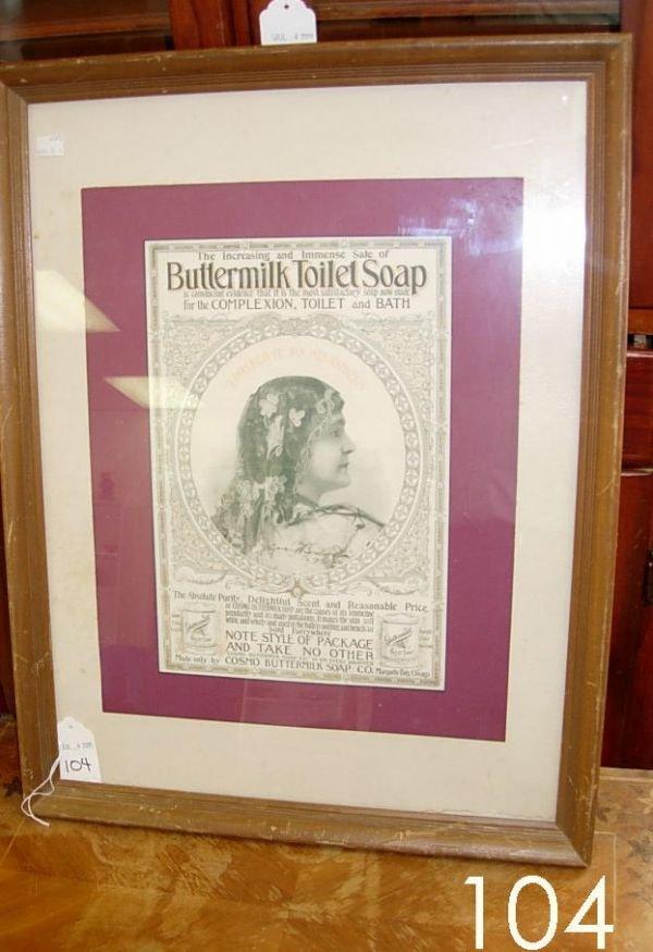 60104: ANTIQUE ADVERTISING PRINT BUTTERMILK TOILET SOAP