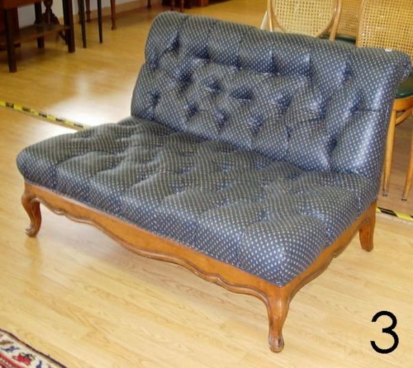 603: ANTIQUE HORSEHAIR SETTEE MAHOGANY COUCH