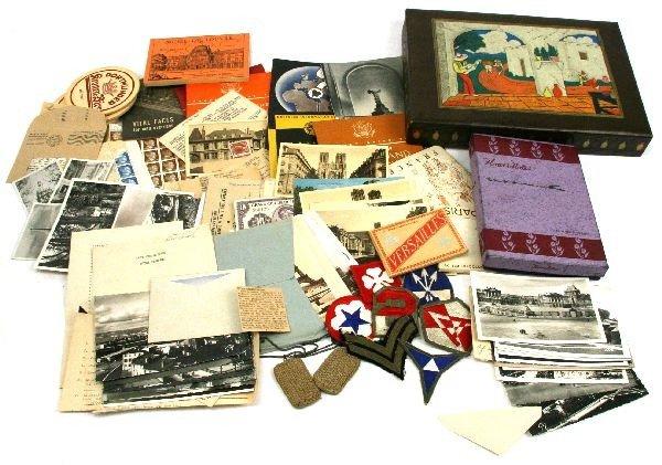 WWII GI TOUR SOUVENIR ARCHIVE NAMED