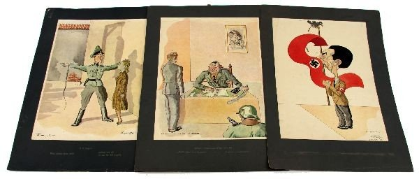 RARE 194O'S POLISH TOEGEL ANTI-GERMAN PRINTS