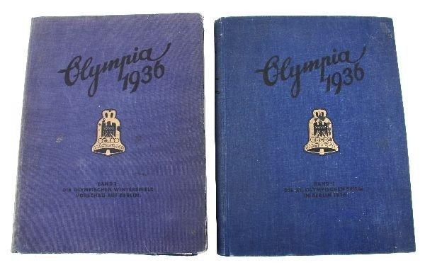 1936 OLYMPICS CIGARETTE CARD 2 VOLUME PHOTO BOOK