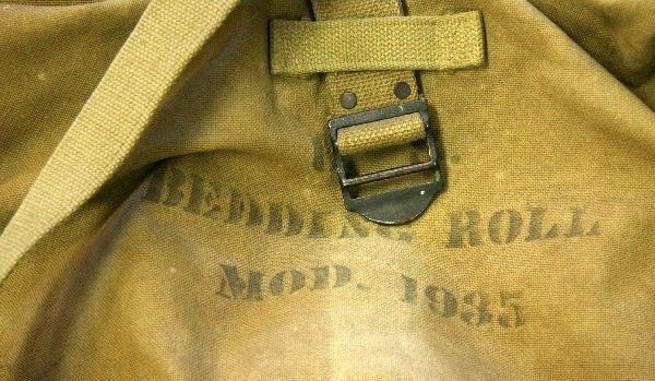US ARMY MODEL 1935 BEDROLL OFFICERS WWII COT COVER - 3