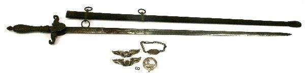 WW1 US ARMY MEDICAL OFFICER SWORD  PERSONAL ITEMS