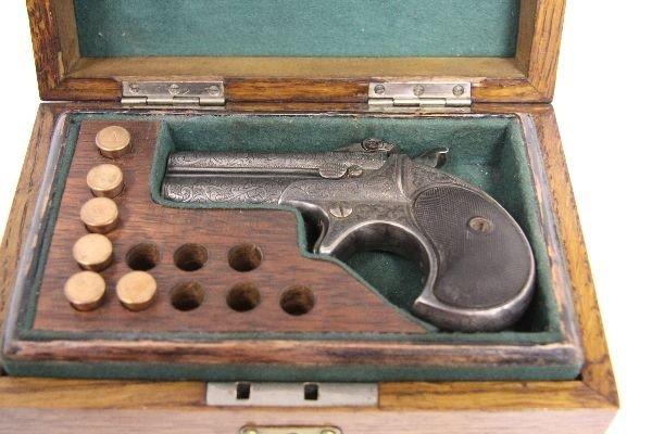 19TH CENTURY GAMBLER'S KIT WITH REMINGTON PISTOL - 2