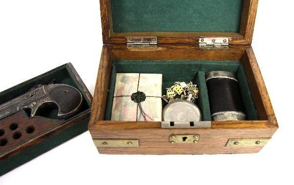 19TH CENTURY GAMBLER'S KIT WITH REMINGTON PISTOL - 3