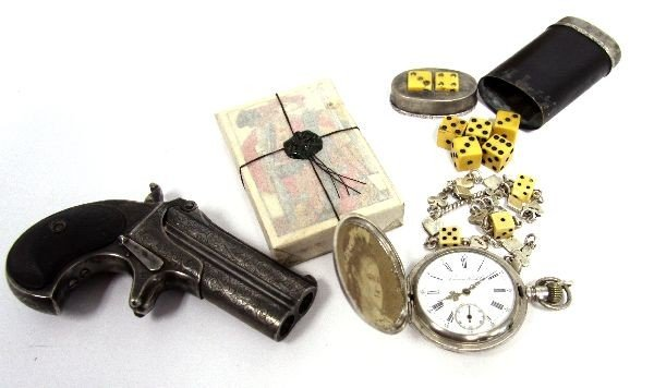 19TH CENTURY GAMBLER'S KIT WITH REMINGTON PISTOL - 4